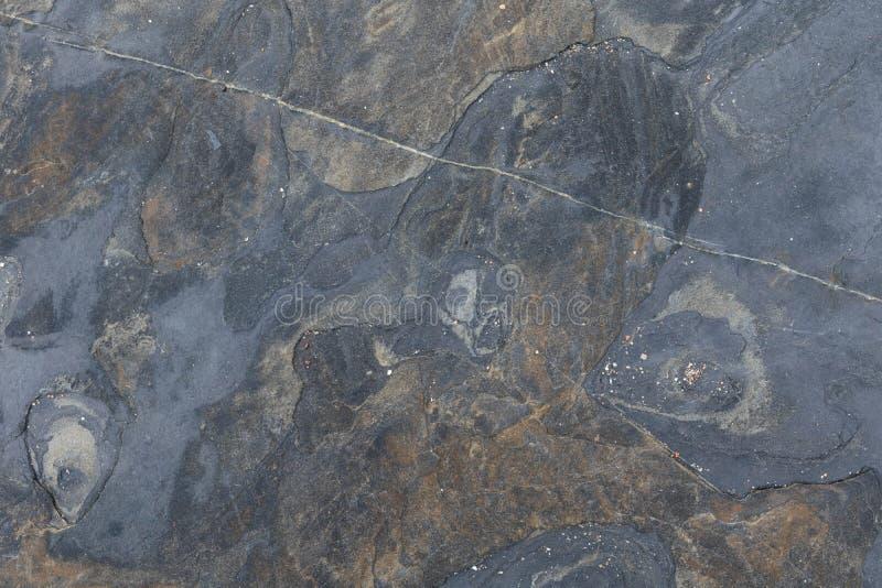 Czarny marmuru kamienia tekstury zbliżenie zdjęcia royalty free