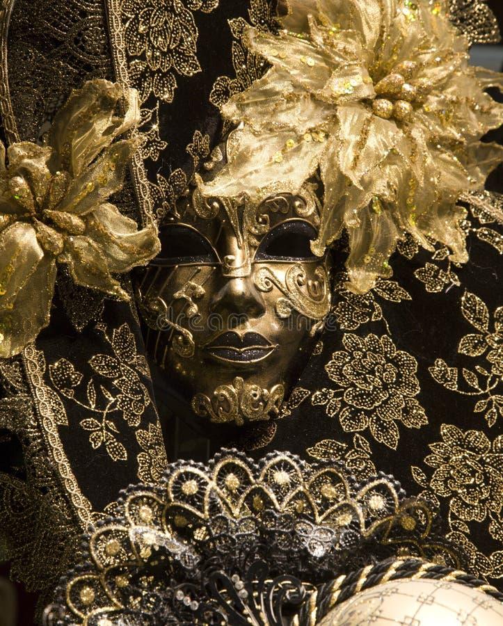 czarny maskowy Venice zdjęcie royalty free