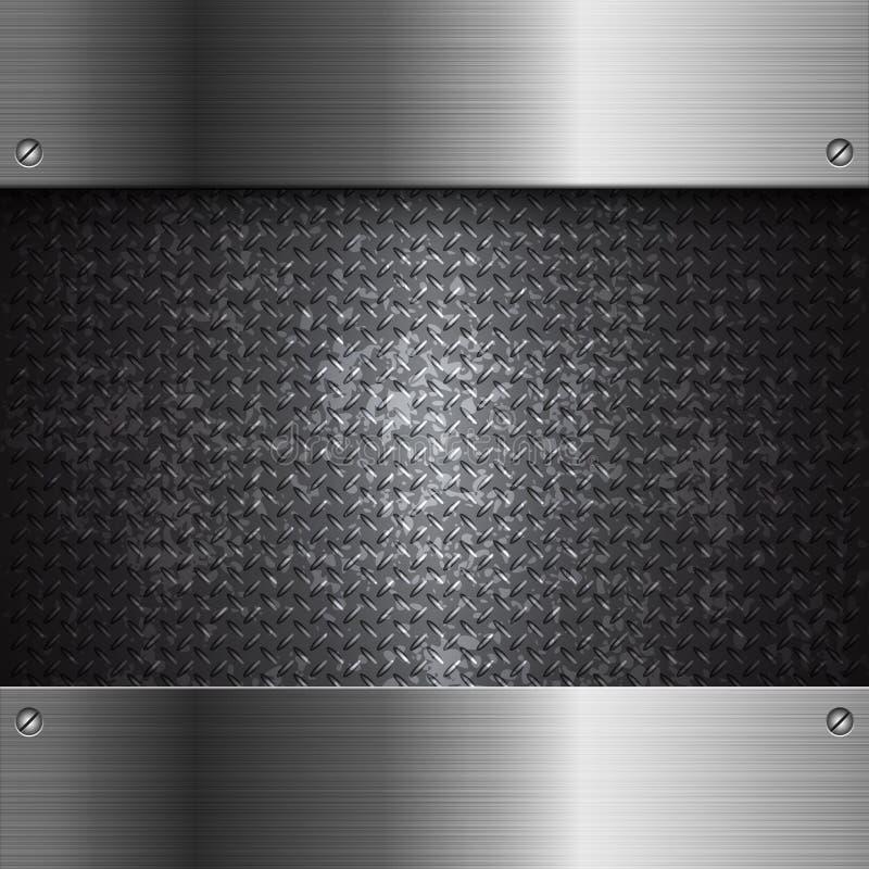 Czarny metal technologii abstrakta tło royalty ilustracja
