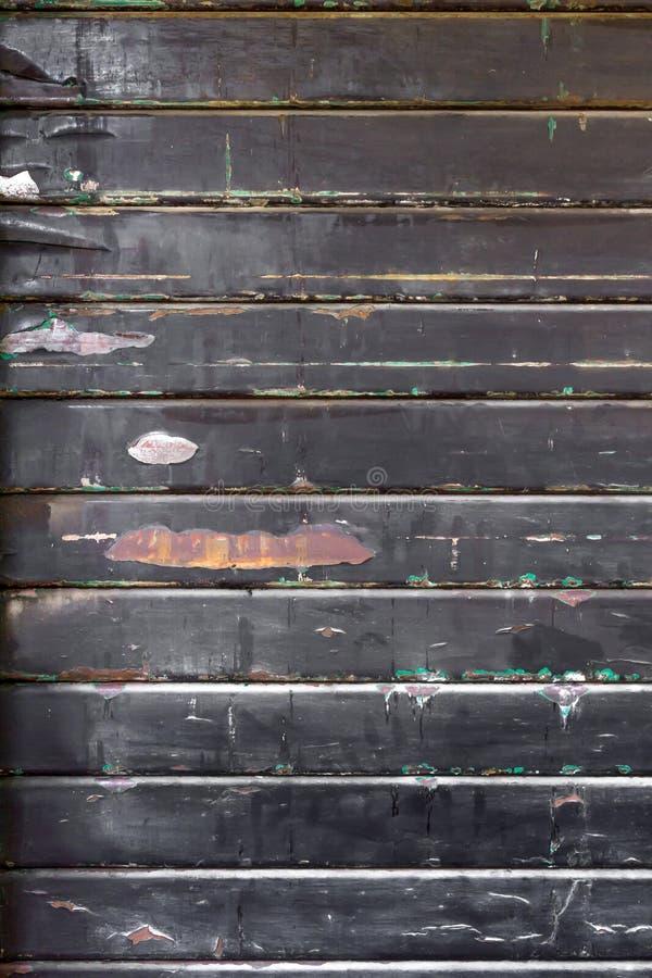 Czarny metalu drzwi fotografia stock