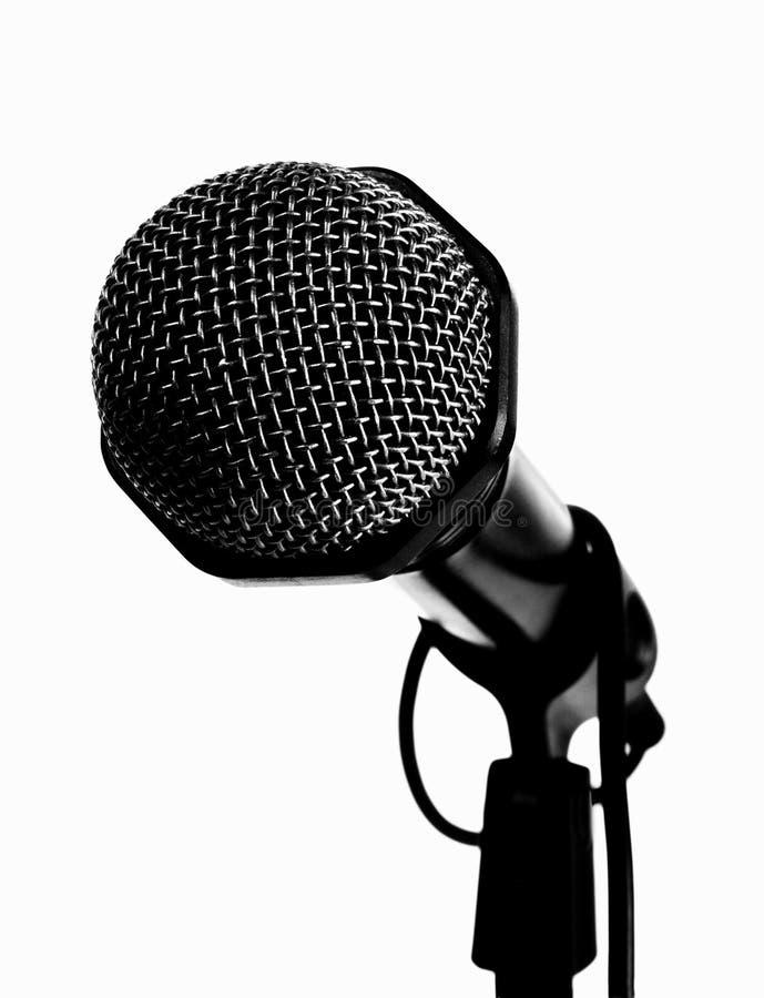 czarny mikrofon obrazy royalty free