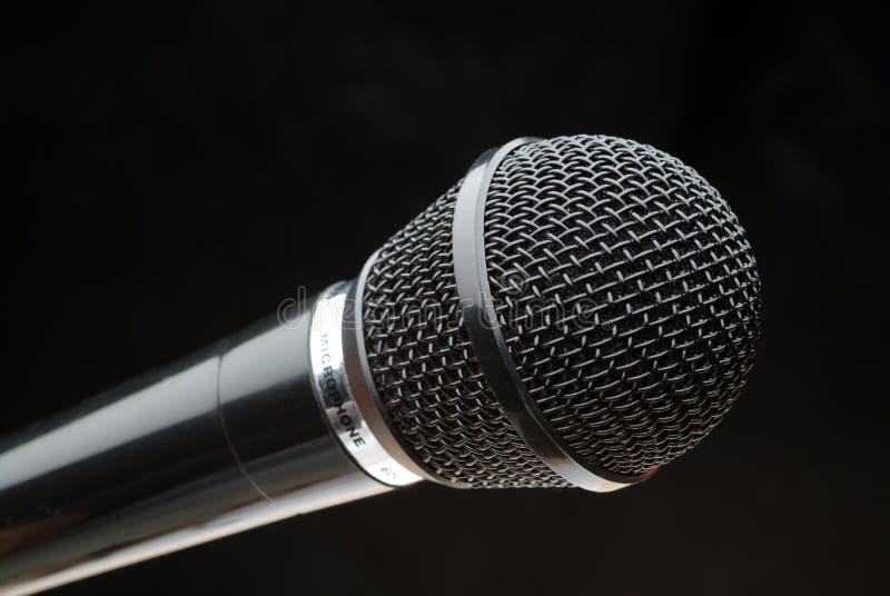 czarny mikrofonu obrazy stock