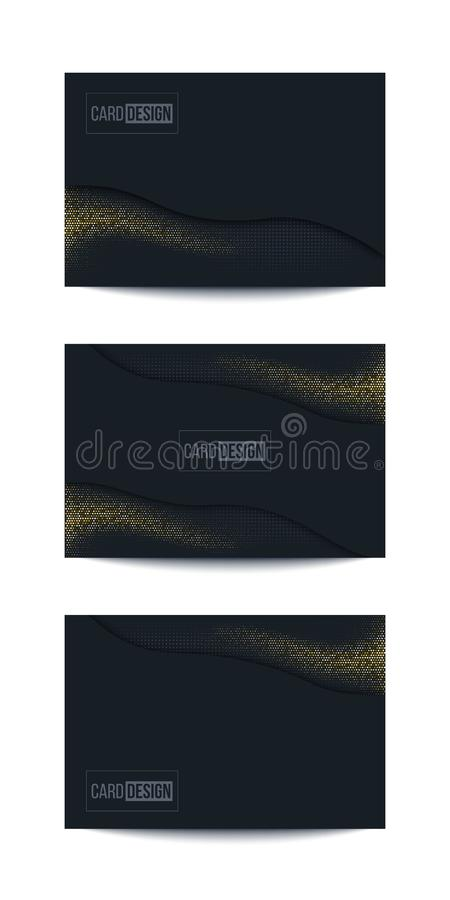 Czarny minimalistic abstrakcjonistyczny tło set royalty ilustracja