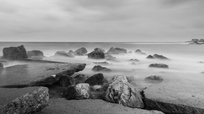 Czarny morze Stoi Wciąż fotografia royalty free