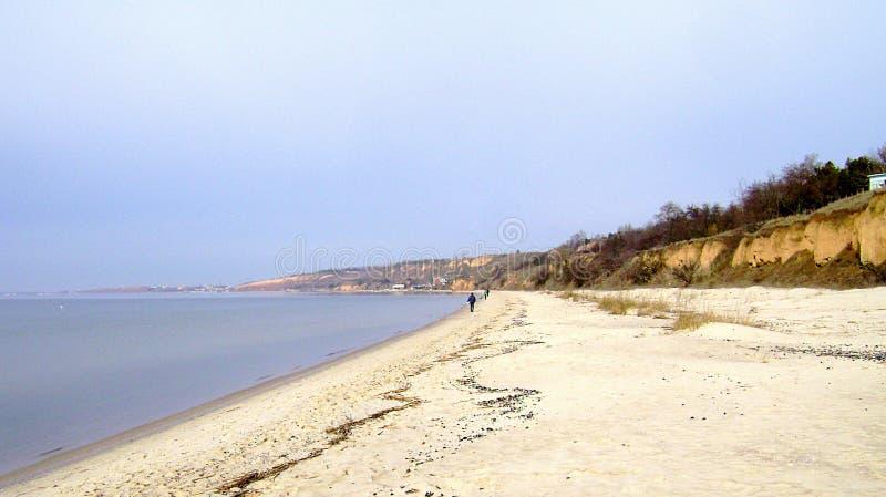 Czarny morze w słonecznym dniu zdjęcie stock
