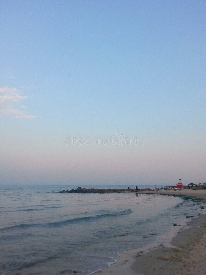 Czarny morze w Ukraina obrazy stock