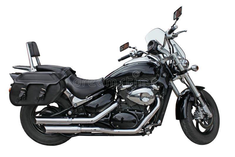 Czarny motocykl zdjęcia royalty free