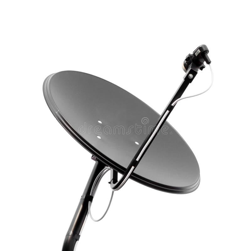 czarny naczynia satelitarny biel obrazy royalty free