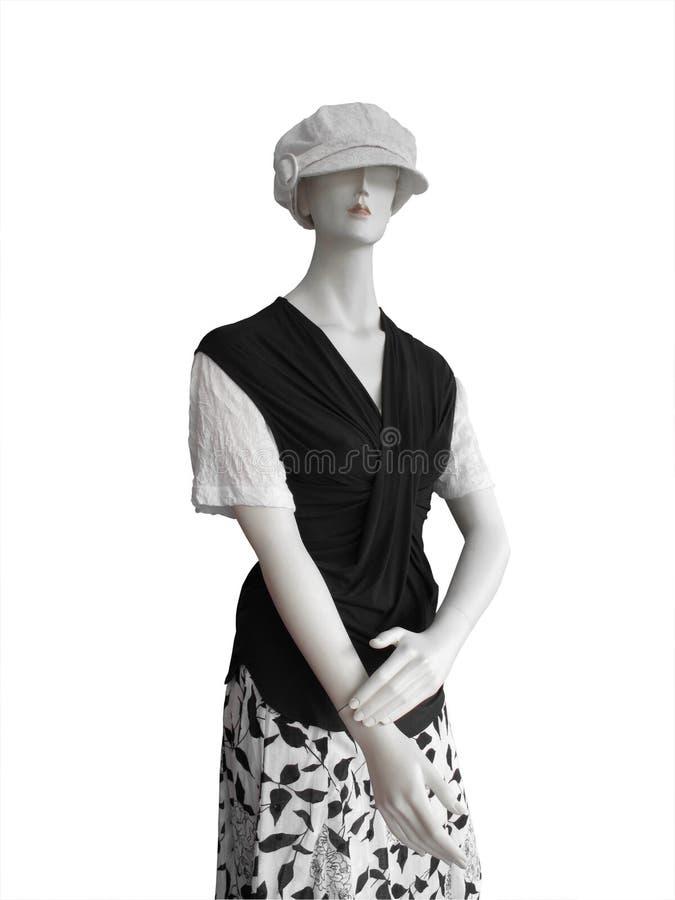 czarny nakrętki manequin odgórny biel fotografia royalty free