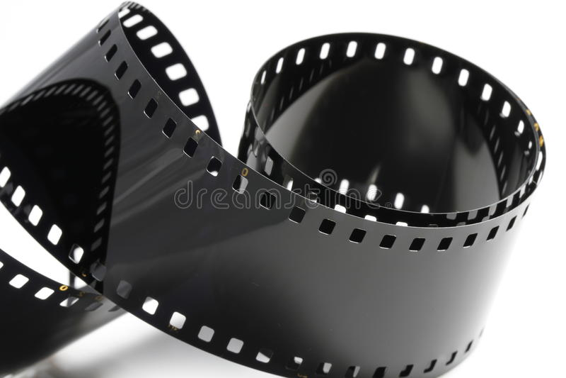 Czarny negatywnego filmu pasek fotografia stock