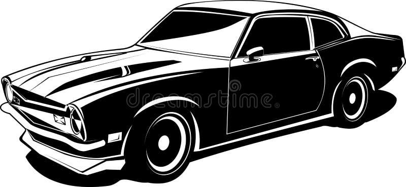 czarny niezależny biel ilustracja wektor
