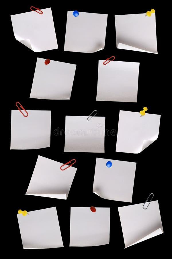 czarny notatki tapetują biel obrazy royalty free