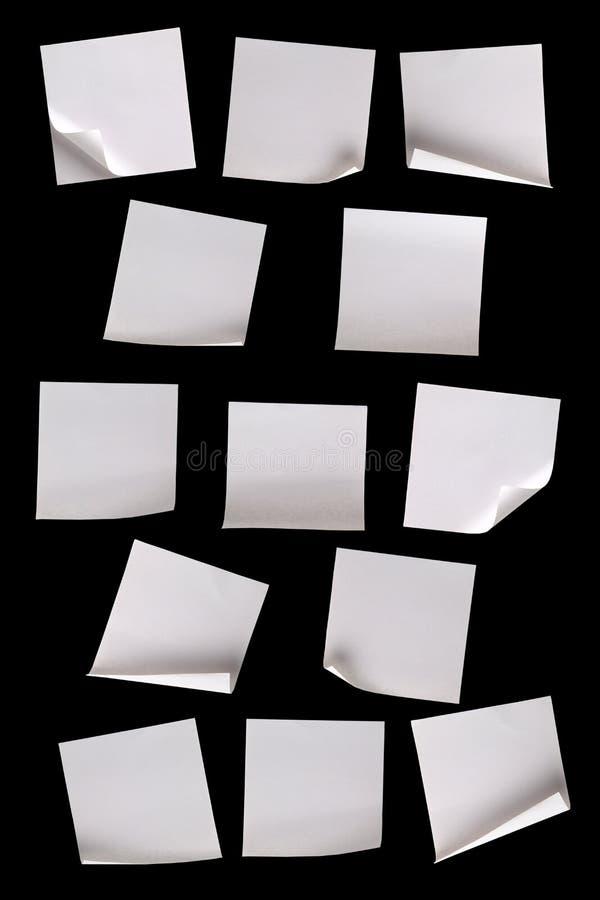 czarny notatki tapetują biel zdjęcie stock