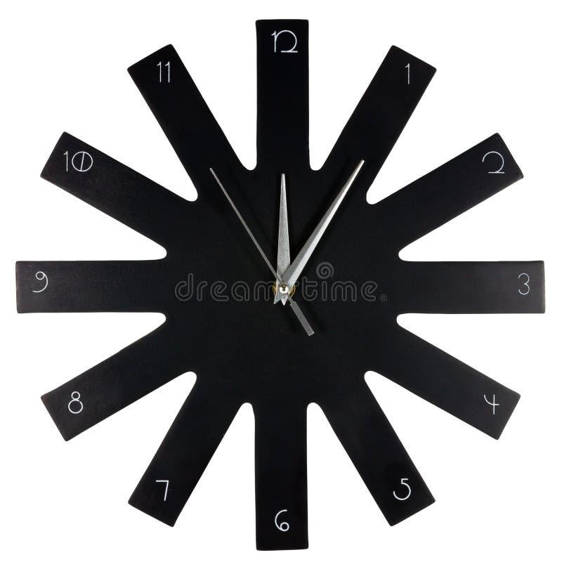 Czarny nowożytny ścienny zegar obrazy royalty free