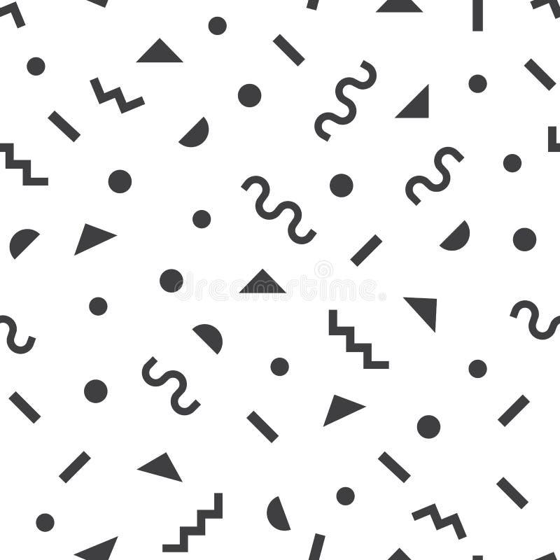 Czarny nowożytny retro i ostry prosty symbolu wzór na białym tle ilustracja wektor