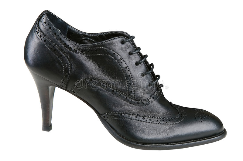 czarny obuwiany womenstyle obrazy royalty free