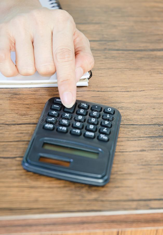 Czarny odgórny kalkulatora przedmiot obrazy royalty free