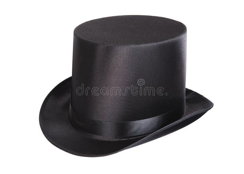 Czarny odgórny kapelusz obraz royalty free