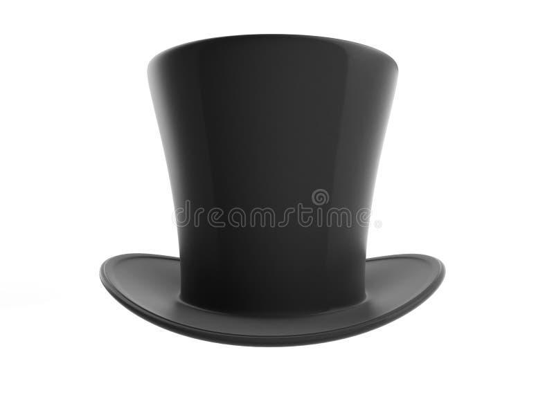 Czarny odgórny kapelusz ilustracja wektor