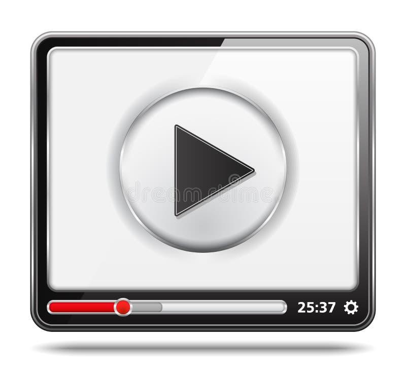 Odtwarzacz Wideo ikona ilustracja wektor