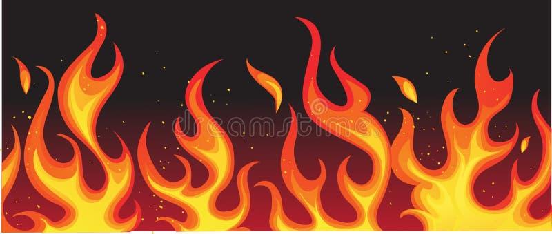 czarny ogień ilustracji