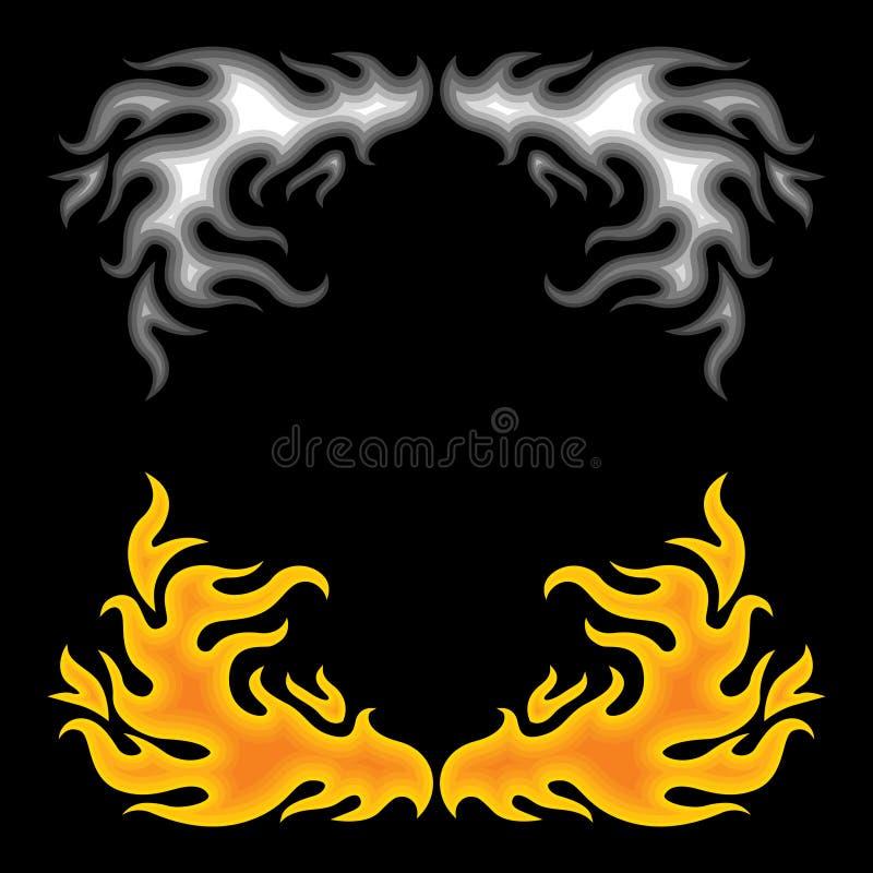 czarny ogień royalty ilustracja