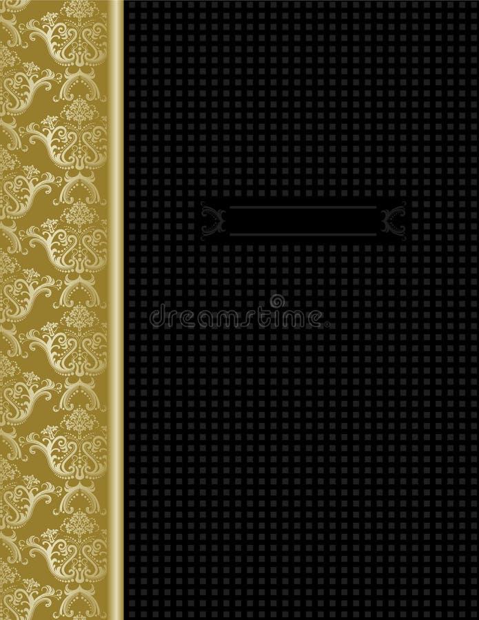 czarny okładkowy projekta złota luksus royalty ilustracja