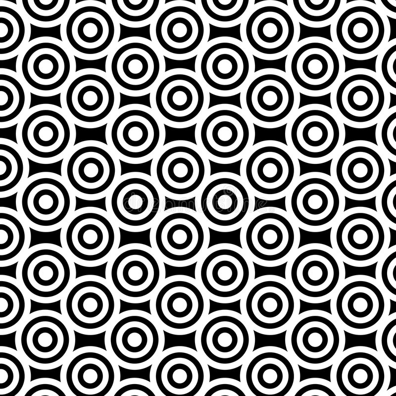 czarny okrąża white ilustracji