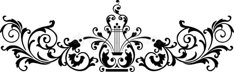 czarny ornament royalty ilustracja