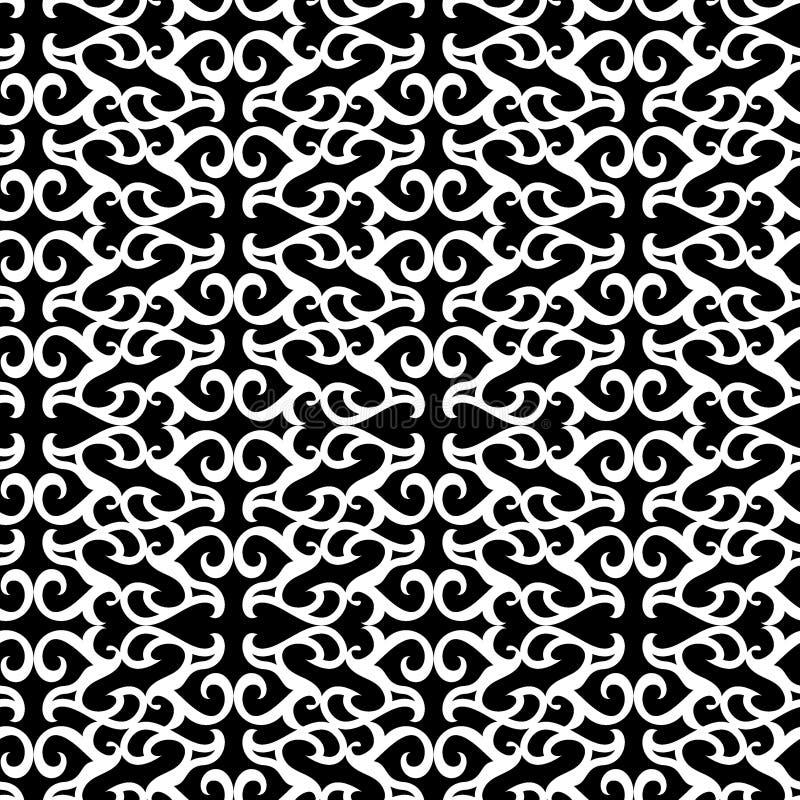 czarny ornamentu wzór bezszwowy royalty ilustracja