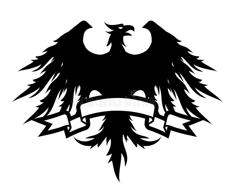 Czarny Orzeł royalty ilustracja