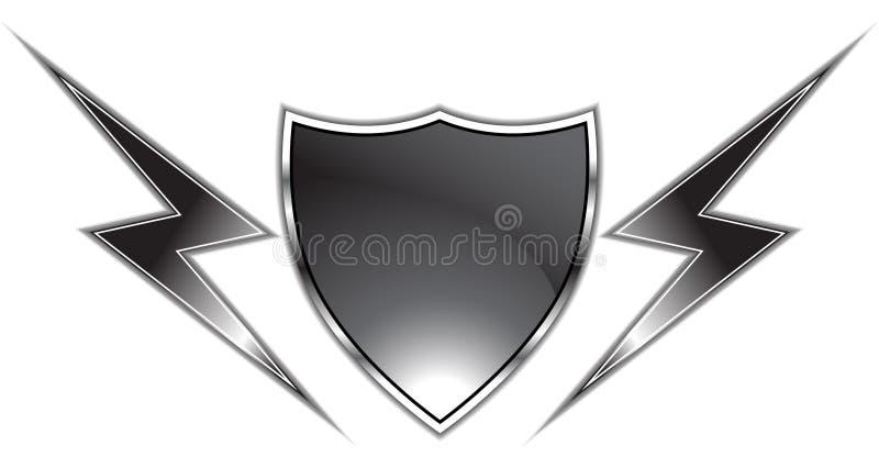 czarny osłona ilustracja wektor