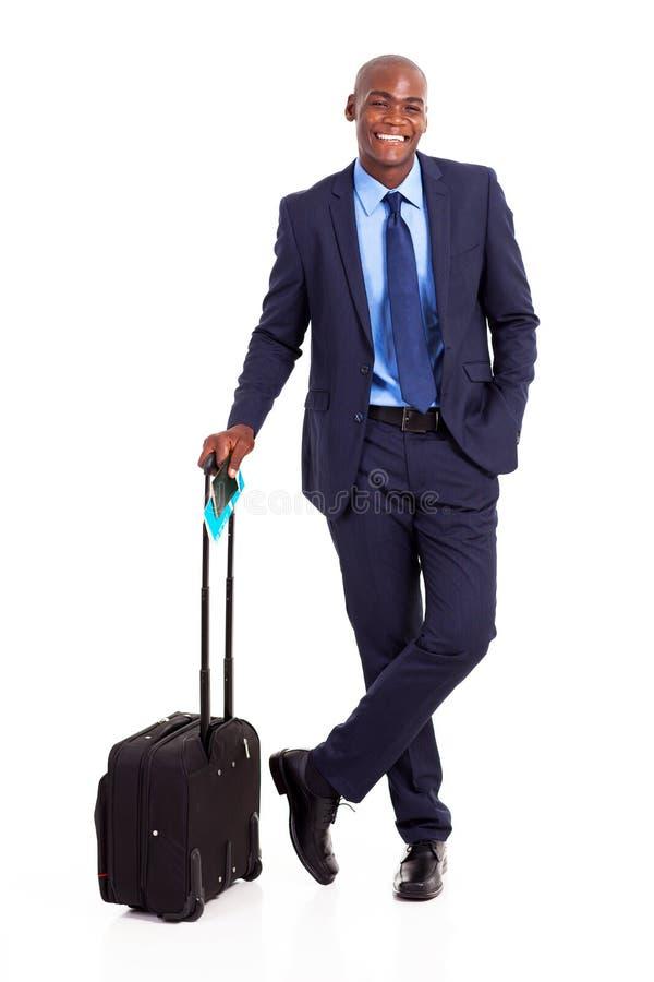 Czarny osoba w podróży służbowej obrazy royalty free