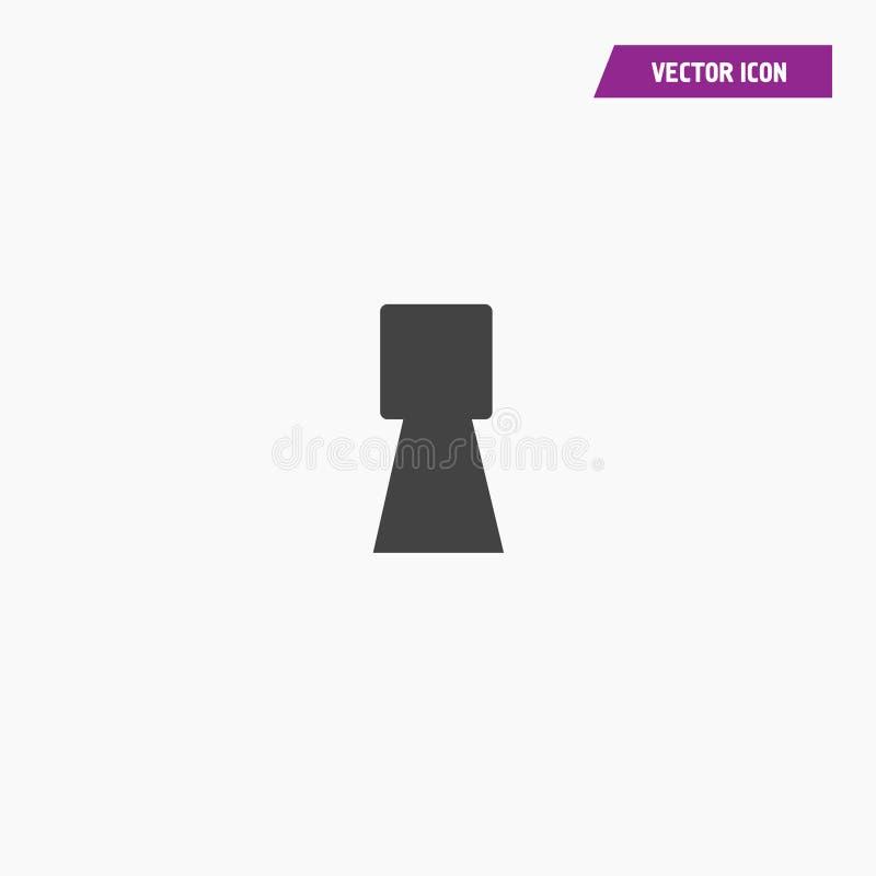 Czarny ostrze kąta keyhole ikony wektor ilustracji