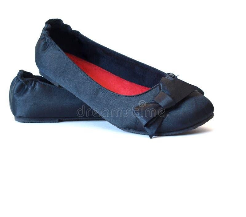 Download Czarny płascy buty obraz stock. Obraz złożonej z mieszkania - 13335271
