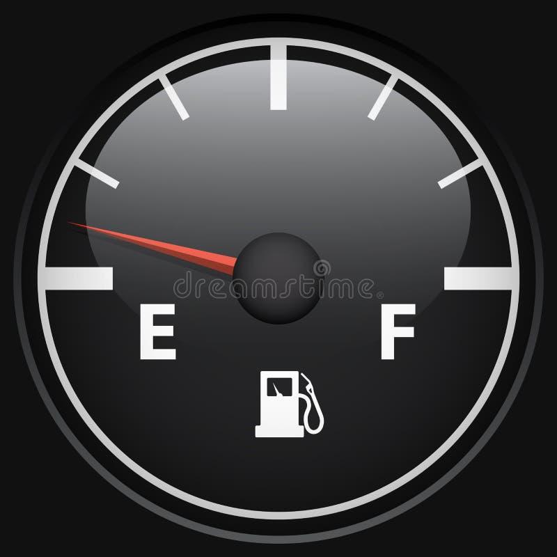Czarny paliwowy gage ilustracja wektor