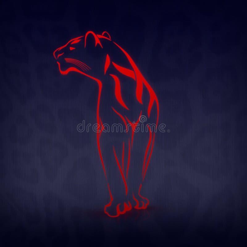 czarny pantera royalty ilustracja