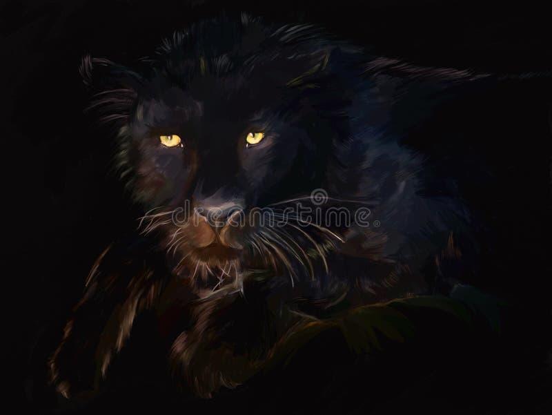 czarny panthera ilustracji