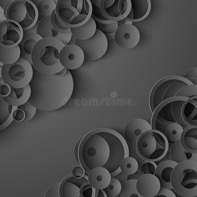 Czarny papierowy abstrakcjonistyczny tło ilustracji