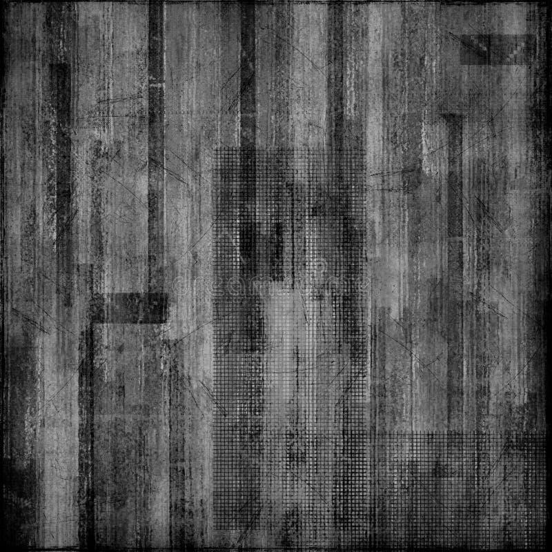 czarny papierowy biel ilustracja wektor
