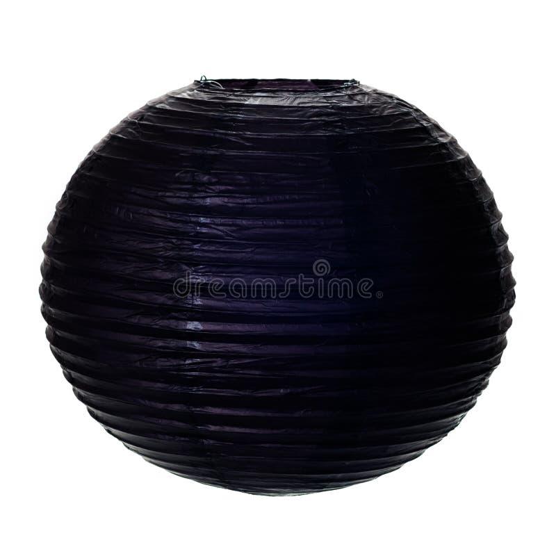 Czarny Papierowy lampion obrazy stock