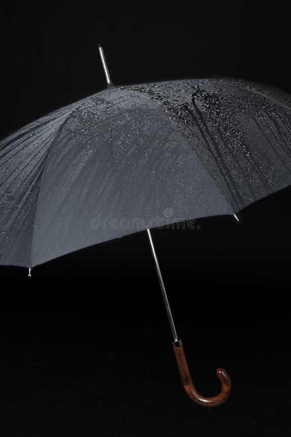 czarny parasol obrazy stock