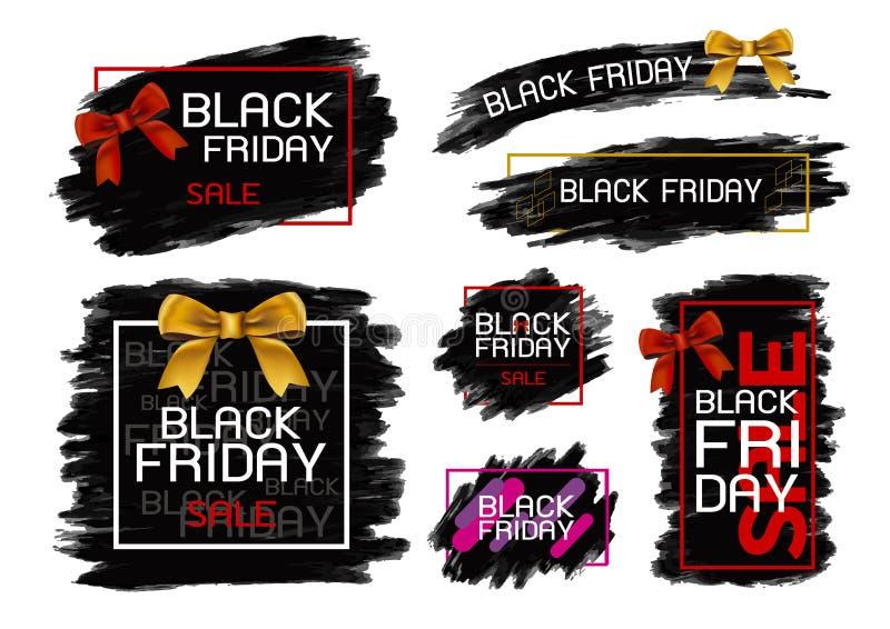 Czarny Piątek sprzedaży sztandaru projekt na białym tle ilustracja wektor