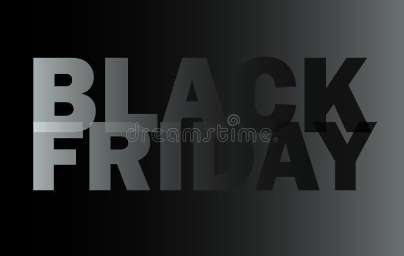 Czarny Piątek, sprzedaży ulotka, promo znak, wektor obrazy royalty free