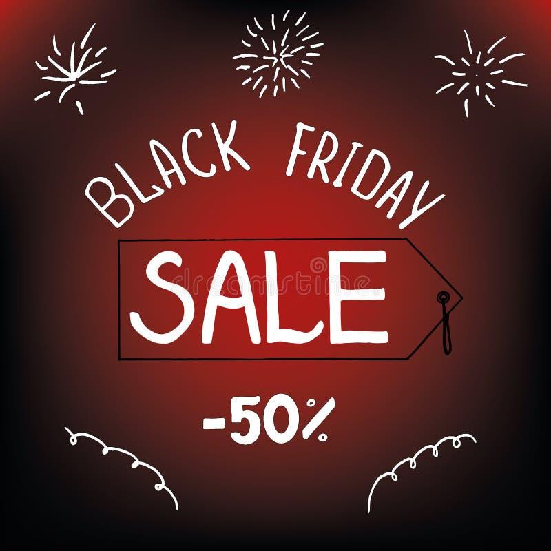 Czarny Piątek, wakacyjna sprzedaż 50 procentów ulotka zdjęcie royalty free