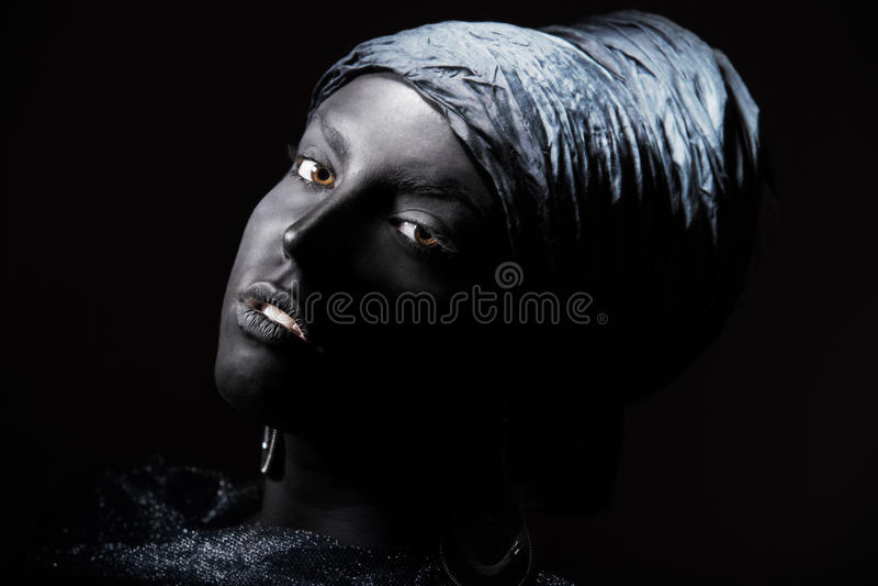 Czarny piękno obraz stock