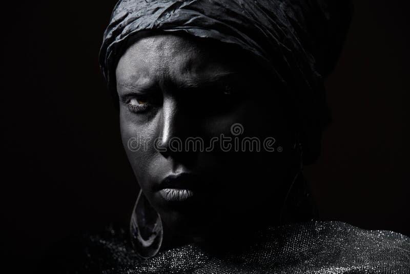 Czarny piękno obrazy royalty free