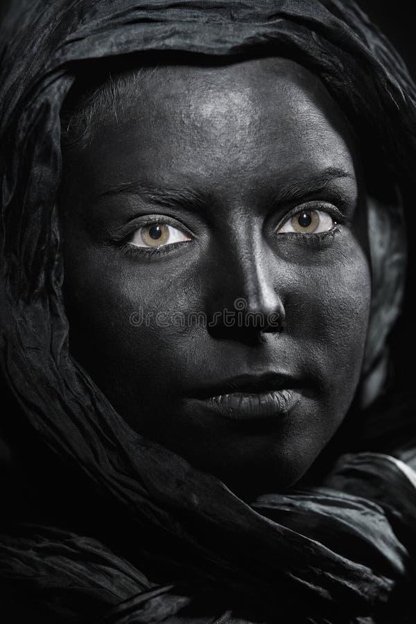Czarny piękno obraz royalty free