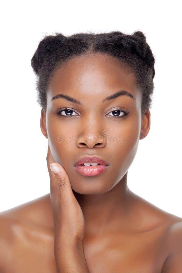 Czarny piękno z perfect skórą obrazy stock