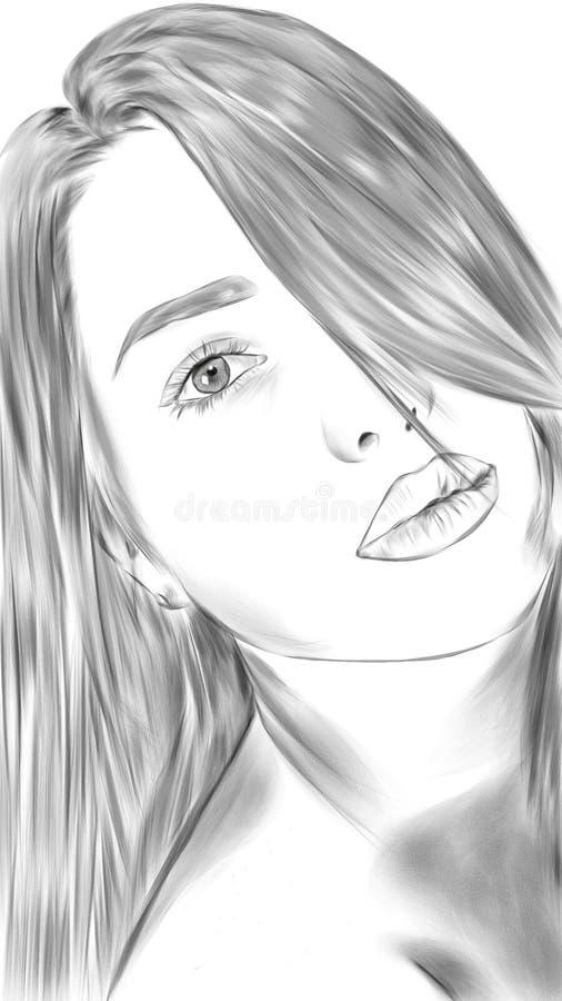 Download Czarny piękno biel ilustracji. Ilustracja złożonej z tło - 57660641